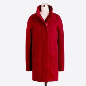 Jcrew dark wine city coat